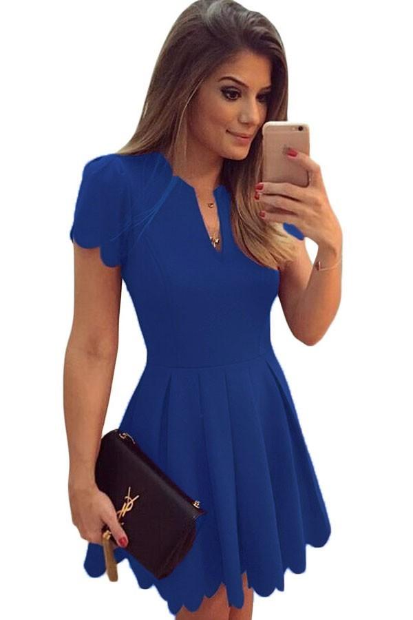 Rochie Eleganta Sweet Scallop Blue