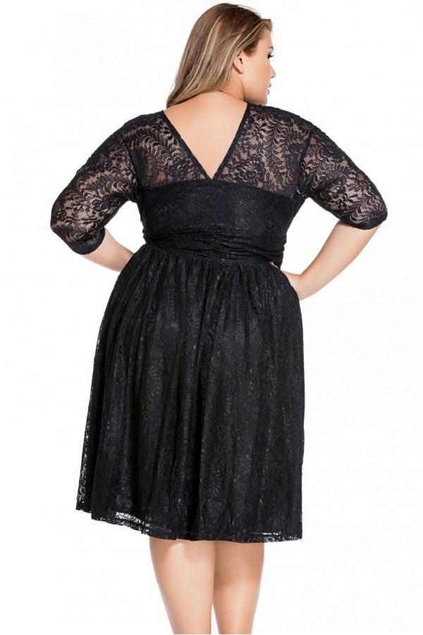 Rochie De Seara Black Lace XXL