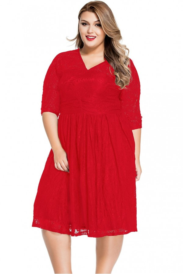 Rochie De Seara Red Lace XXL