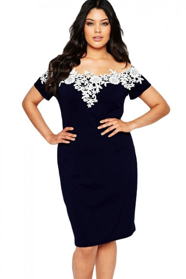 Rochie XXL Dark Blue Emotion