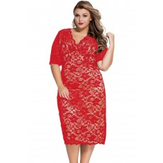 Rochie Din Dantela Red Intuition XXL thumbnail