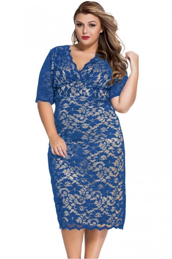 Rochie Din Dantela Blue Intuition XXL