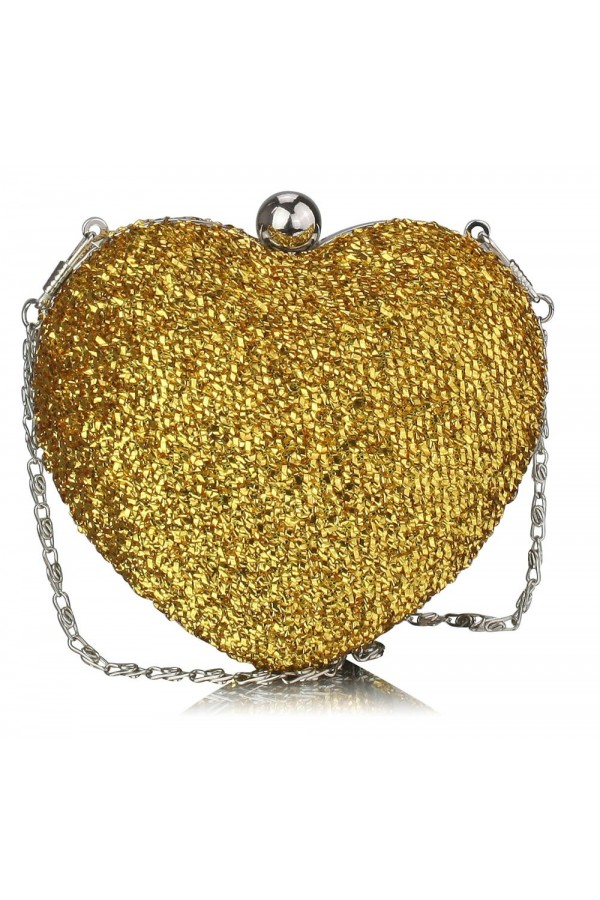 Clutch Gold Heart