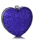 Clutch Blue Heart
