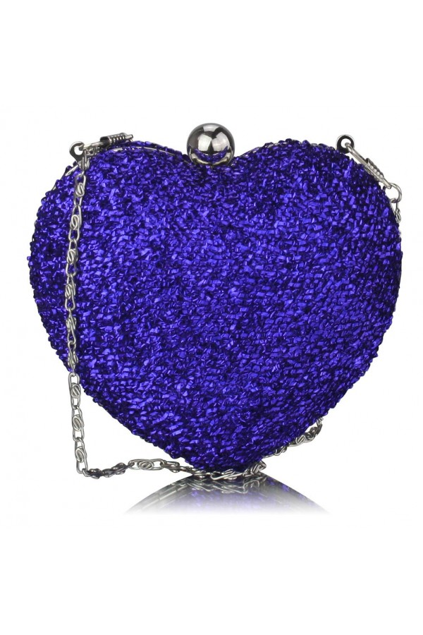 Clutch Blue Heart