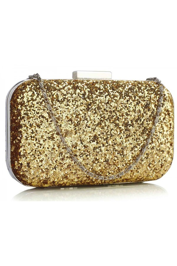 Clutch Gold Sequin