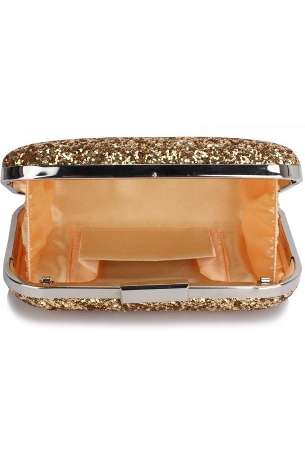 Clutch Gold Sequin