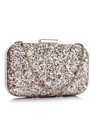 Clutch Silver Sequin