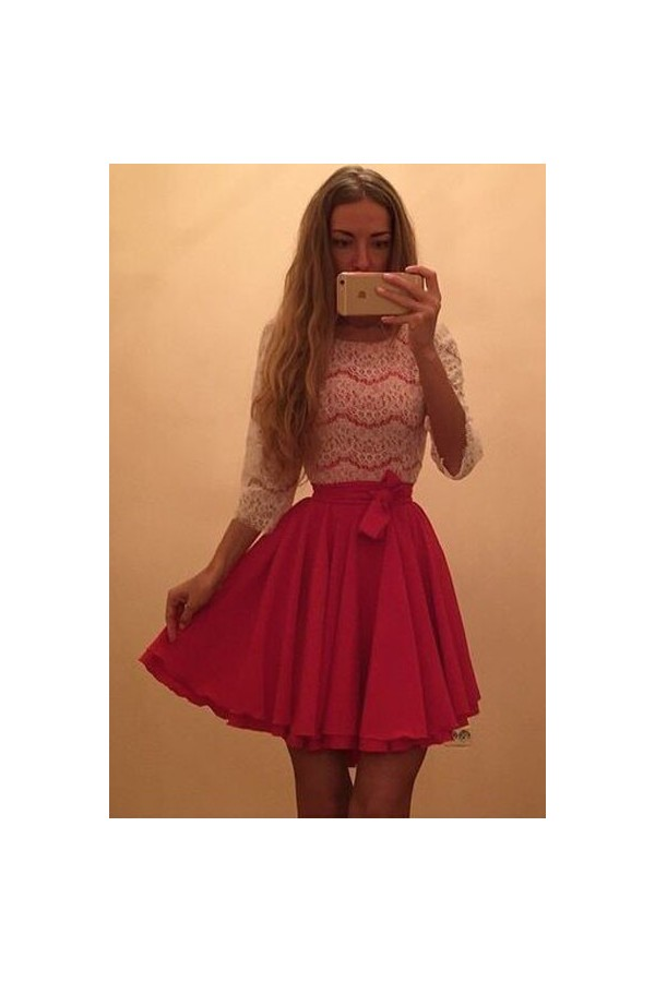 Rochie Din Dantela Pink Day