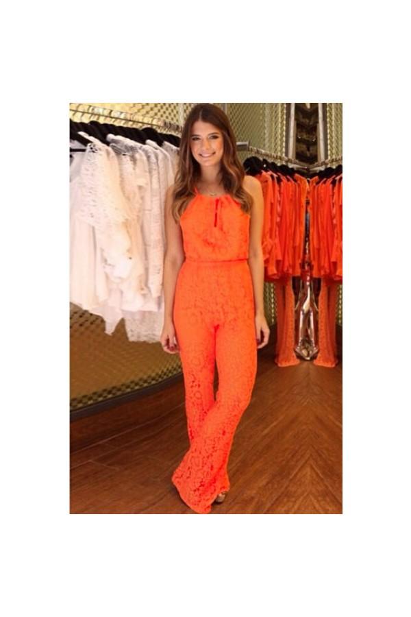 Salopeta Orange Lace