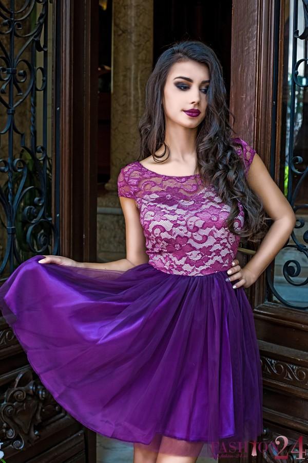 Rochie Eleganta Purple Evening