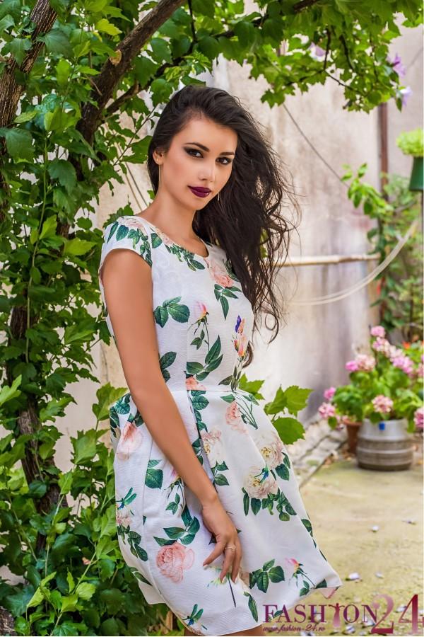Rochie Eleganta Green Leaves