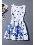 Rochie De Seara Blue Butterflies