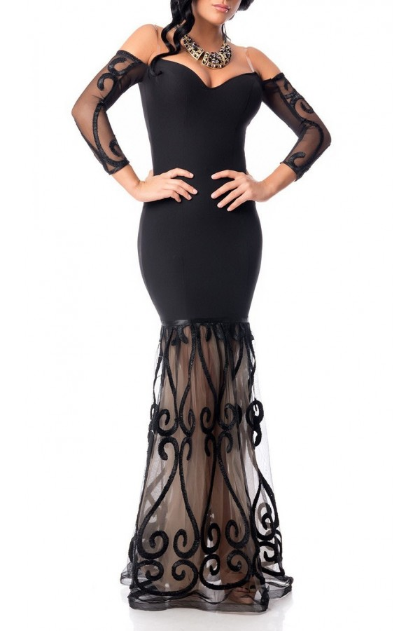 Rochie Off Shoulder Black
