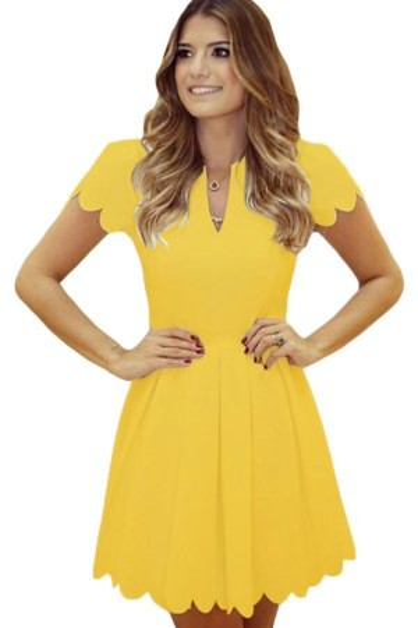 Rochie Eleganta Sweet Scallop Yellow