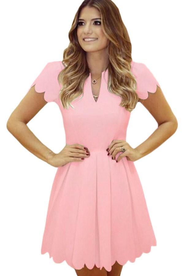 Rochie Eleganta Sweet Scallop Pink