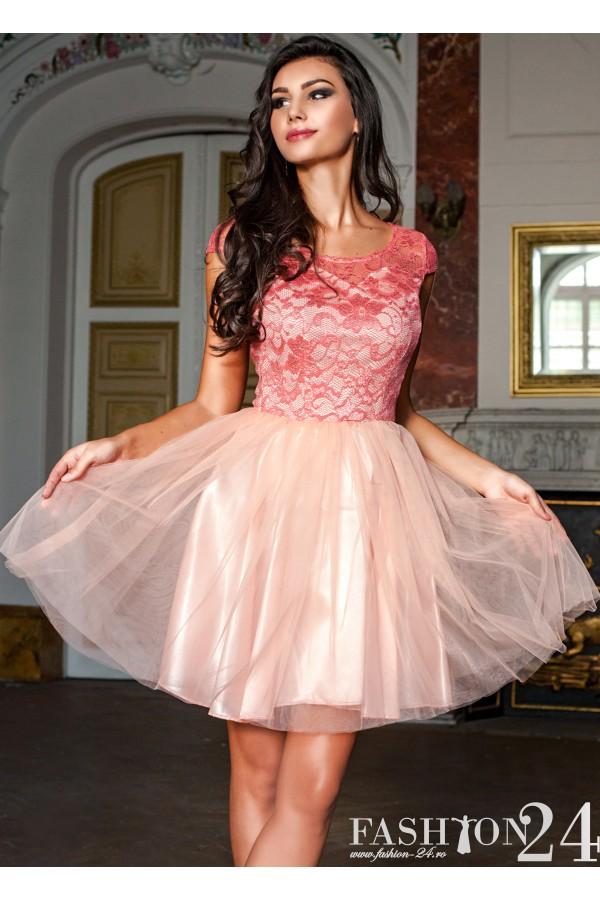 Rochie Eleganta Pink Evening