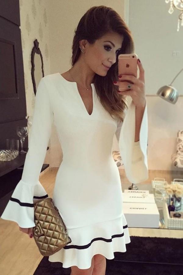 Rochie Eleganta White Case