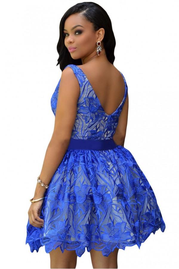 Rochie Eleganta Royal Blue