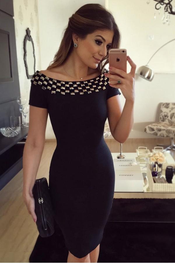 Rochie Eleganta Black Accesory