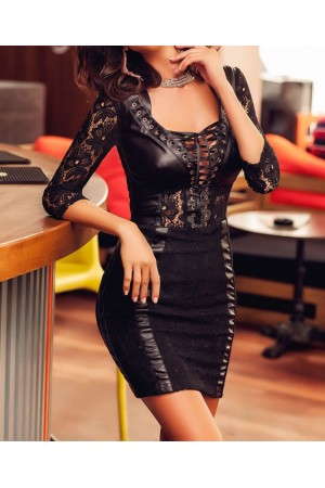 Rochie Lace Leather