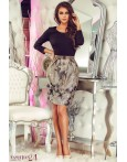 Rochie Gray Leaves