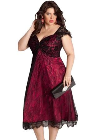 Rochie XXL Red Embellished