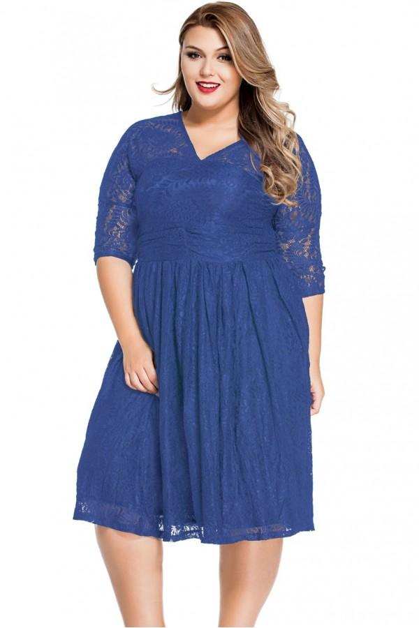 Rochie De Seara Blue Lace XXL