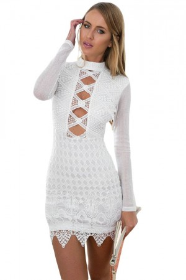 Rochie Din Dantela White Sophistication