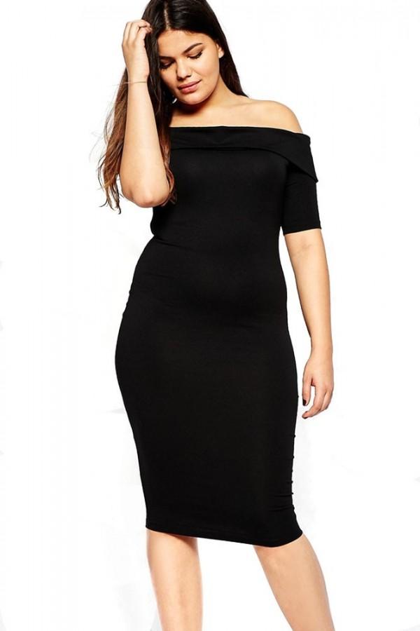 Rochie XXL Simple Black