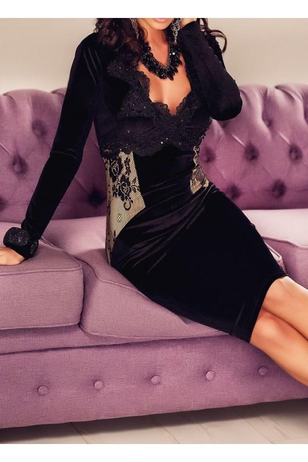Rochie De Seara Black Applique
