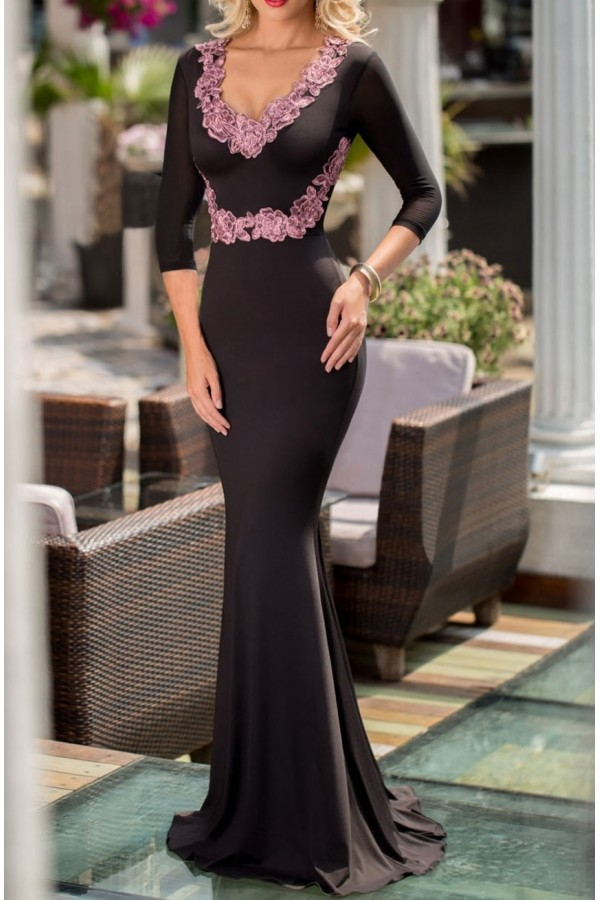 Rochie De Ocazie Long Purple