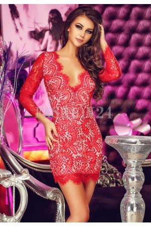 Rochie Din Dantela Red Passion