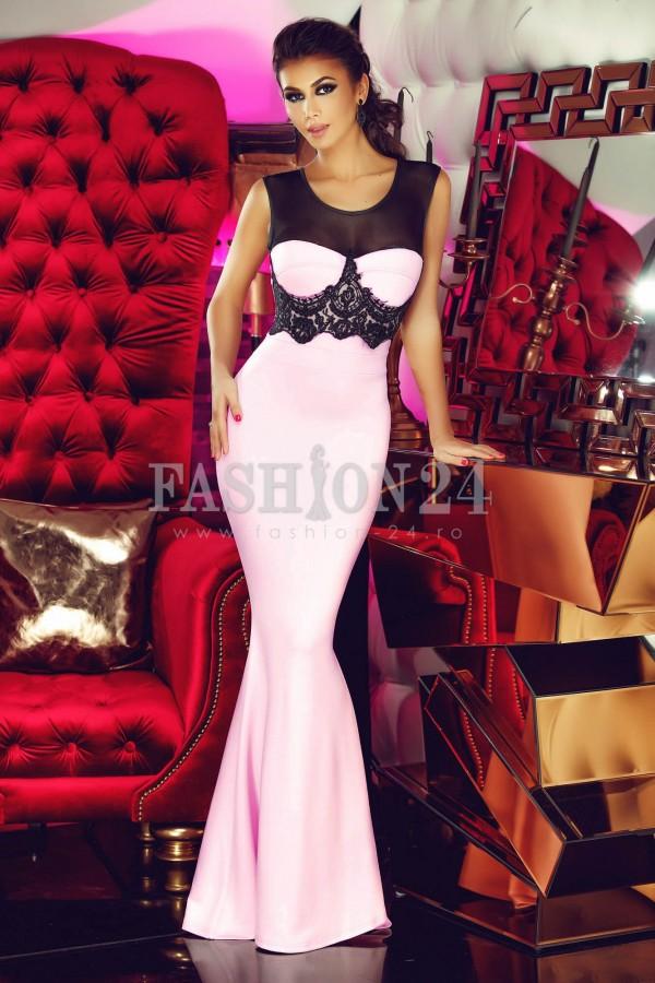 Magazin Online Haine - Rochie De Seara Pink Moment -Fashion-4u.Eu