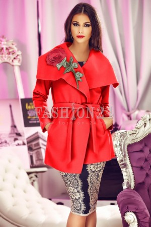 Palton 3D Red Rose
