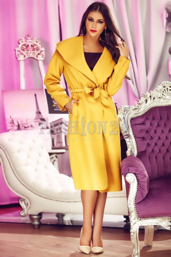 Palton Elegant Shade Mustard