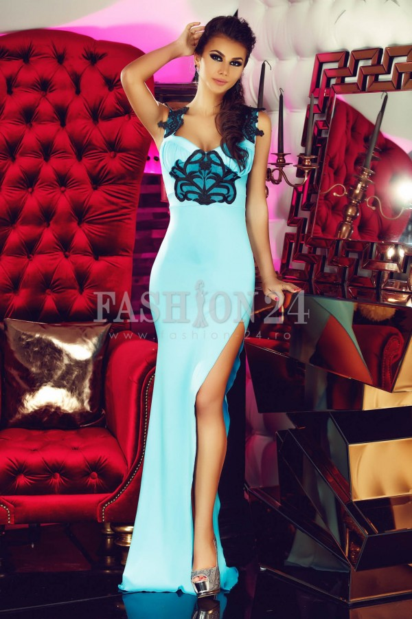 Rochie Long Diva Turquoise