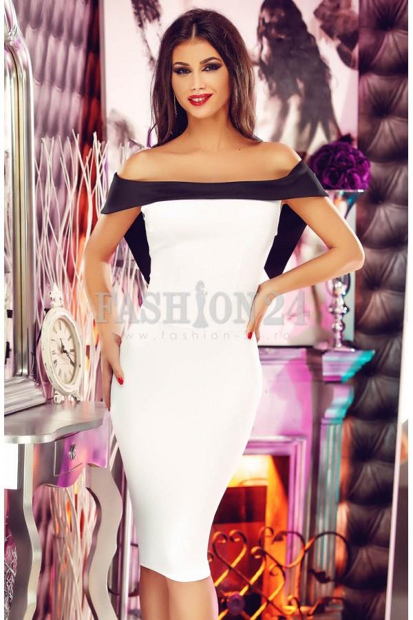 Rochie Eleganta White Precious