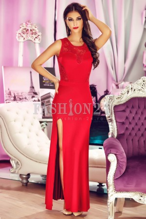 Rochie Lace Back Red
