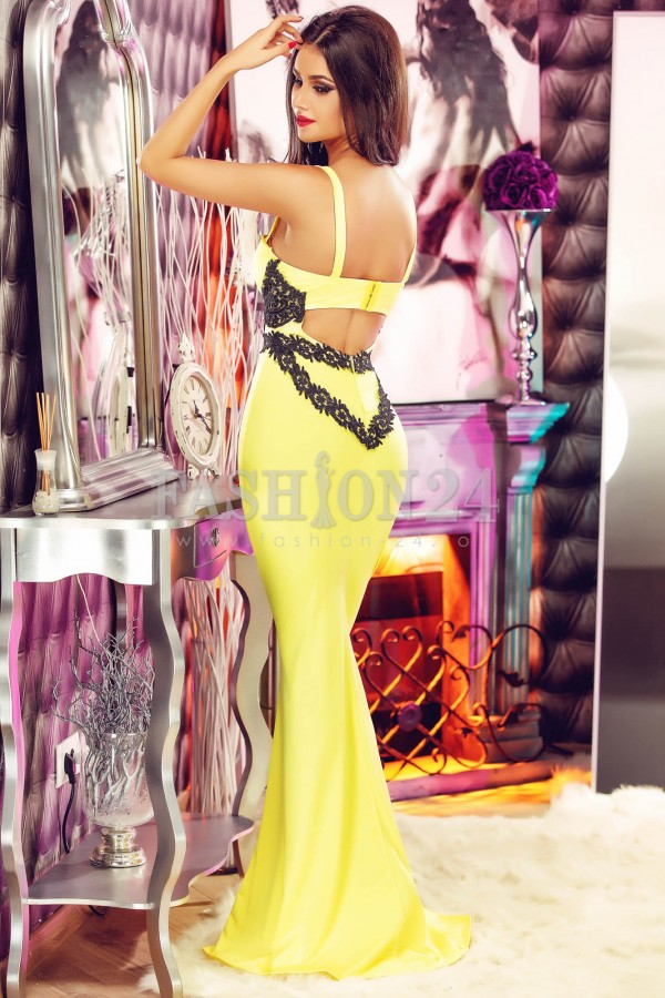 Rochie De Ocazie Yellow Lady