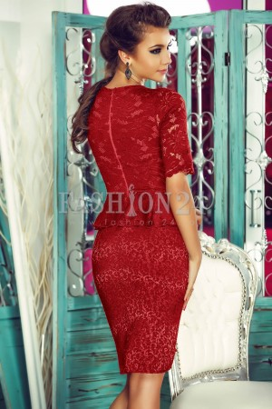 Rochie Office Burgundy Attractive