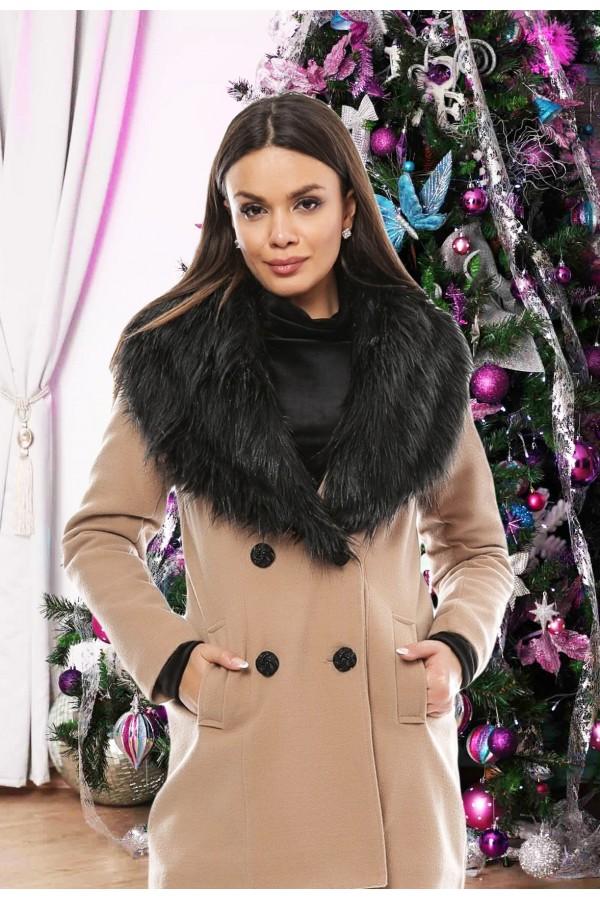 Palton Black Fur