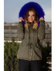 Geaca Parka New Style Blue