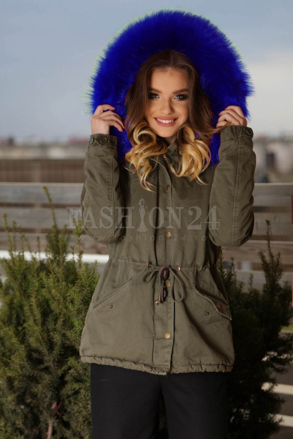 Geaca Parka New Style Blue
