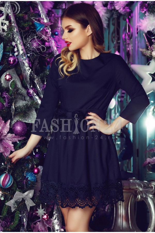 Rochie Eleganta Dark Blue Fancy