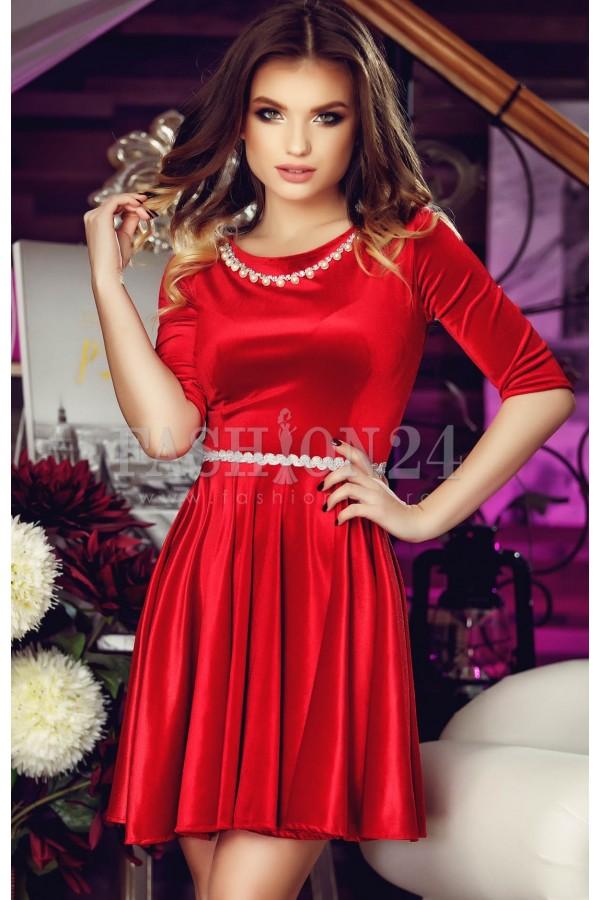 Rochie Eleganta Red Beads