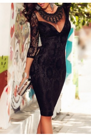Rochie Lace Embroidered