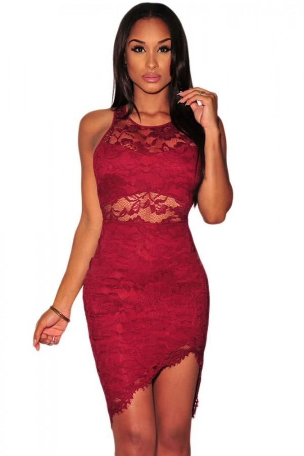 Rochie Din Dantela Red Impressive