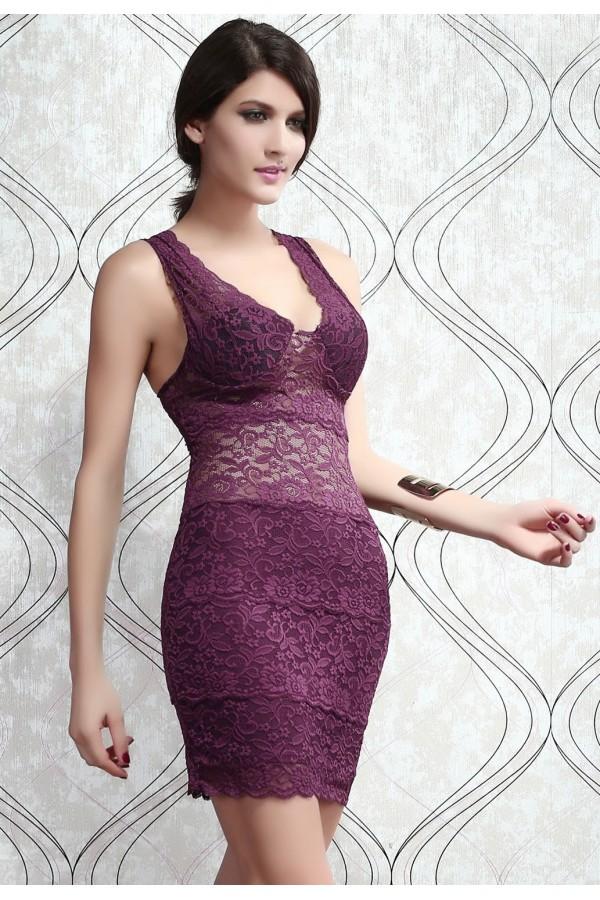 Rochie Purple Lace
