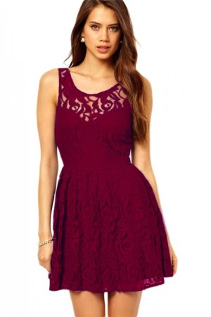 Rochie Burgundy Lace